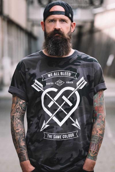 We all Bleed T-Shirt [Camo]