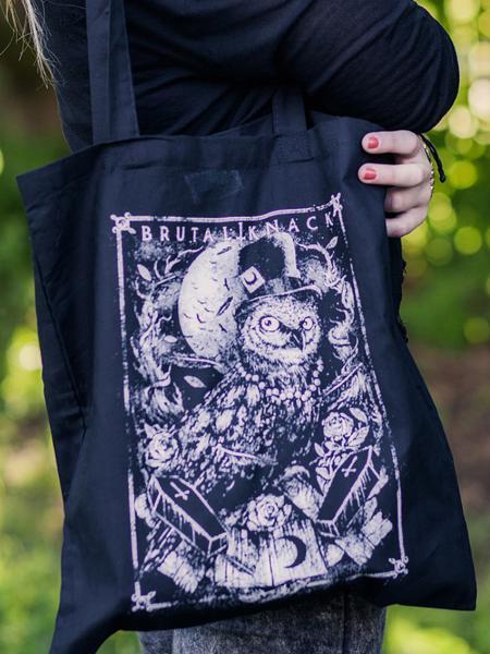 Stofftasche Owl [black]