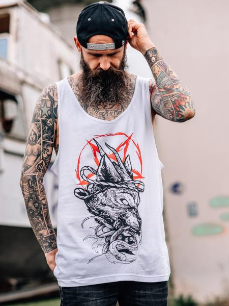 Occult Wolf Jersey Tank [white]