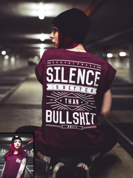 Silence Extended Shirt [cherry]