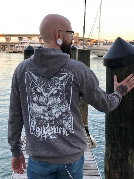 Owl Hoodie [Melange grey]