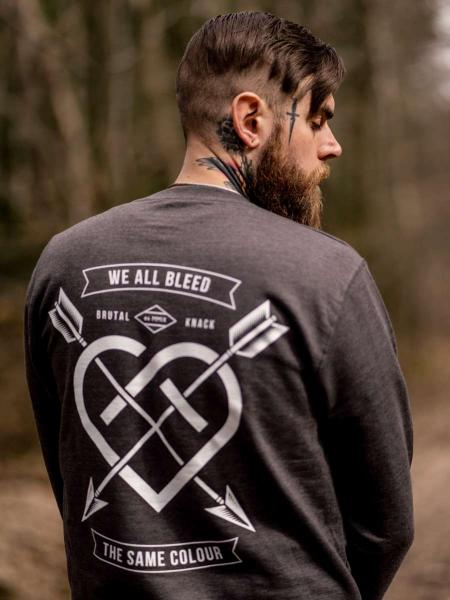 We all bleed Crewneck [anthrazit]