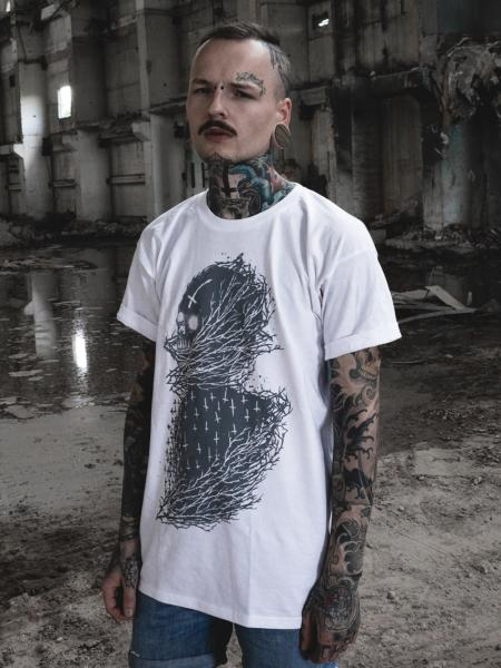 Cross Skull Shirt [white]