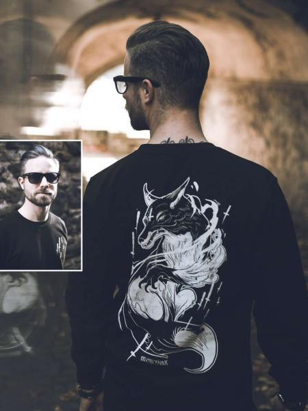 Spirit Fox Crewneck [black]
