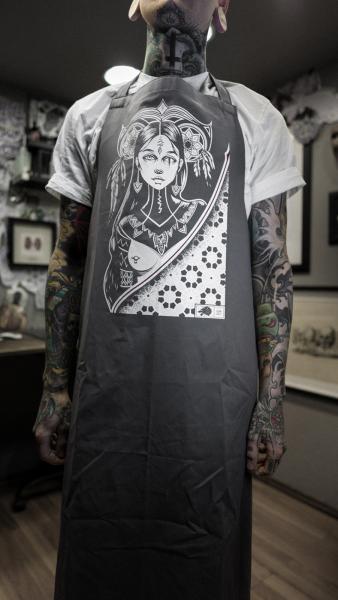 Tattooschürze Blackwork [grey]