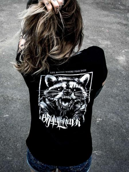 Racoon Extended Shirt [black]