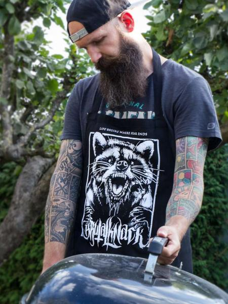 Tattooschürze Racoon [black]