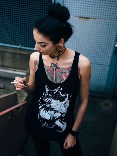 Spirit Fox Jersey Tank [black]