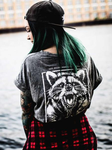 Racoon Extended Shirt [black/grey]