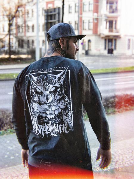 Owl Crewneck [washed black]