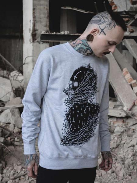 Cross Skull Crewneck [grey]