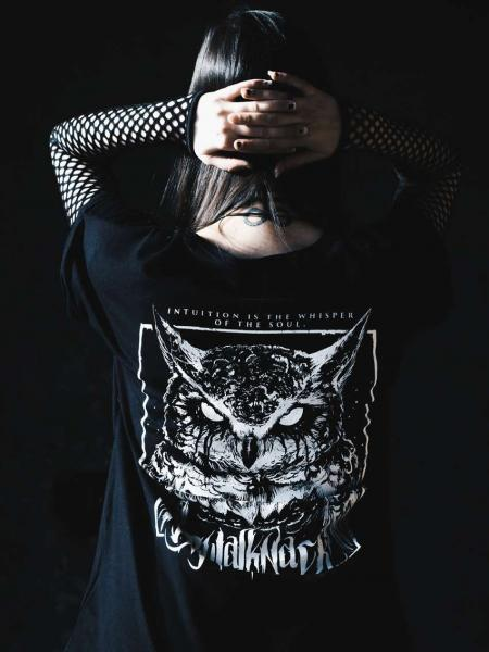 Owl Extended Shirt [black]